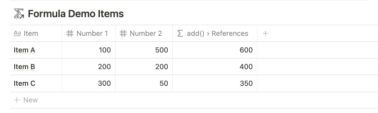 add() with Property Reference in Notion