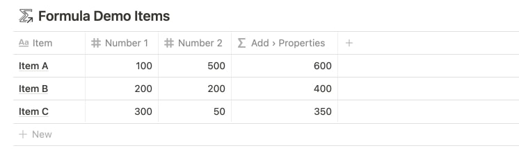 Add Property References with Notion Formulas