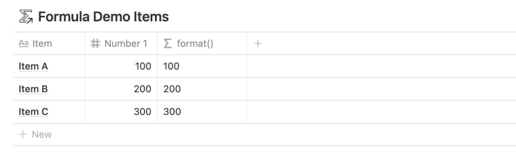 Notion's format() Function