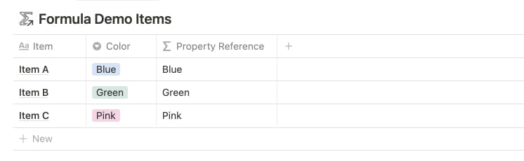 Property References with Notion Formulas