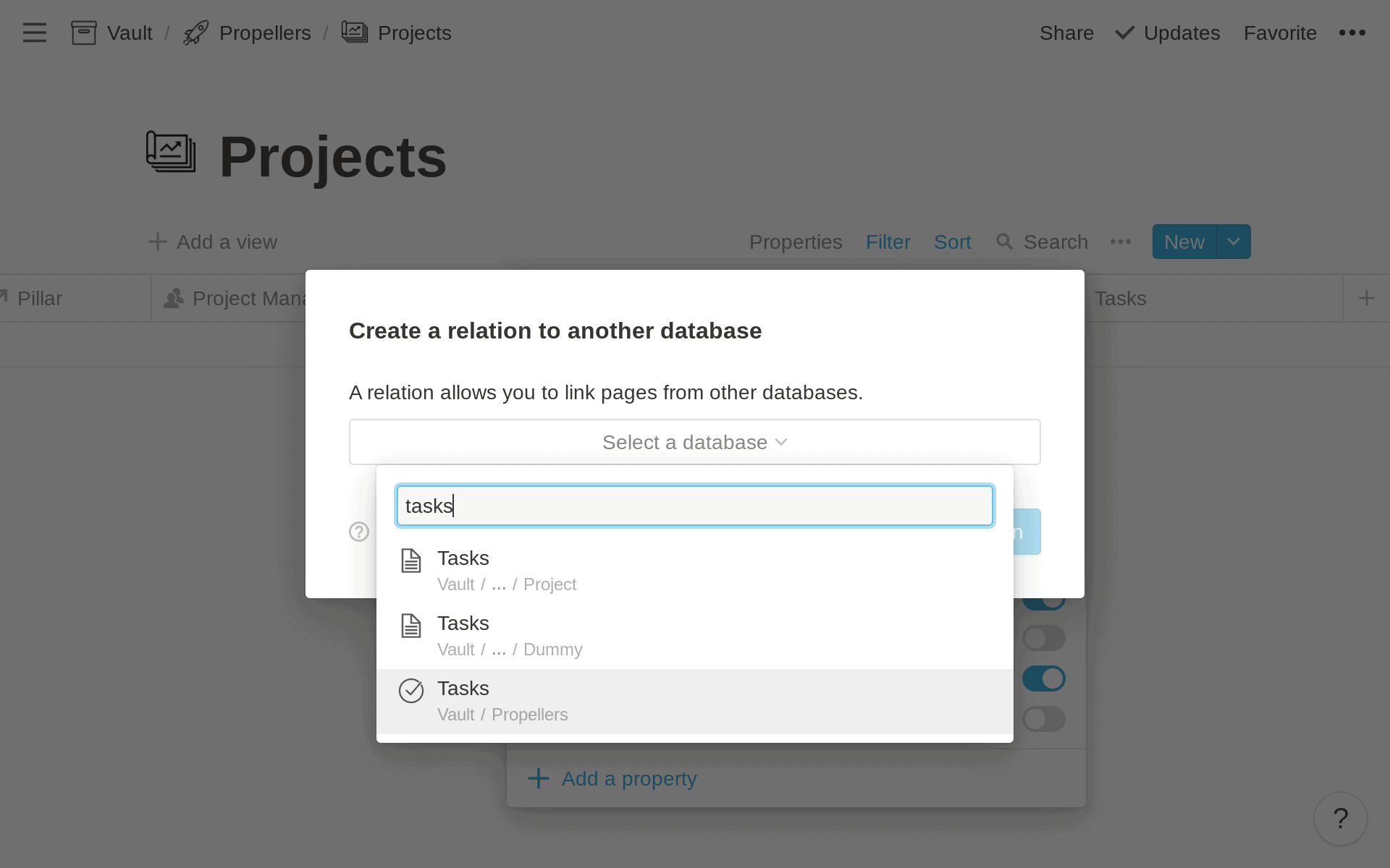 Relate Databases in Notion