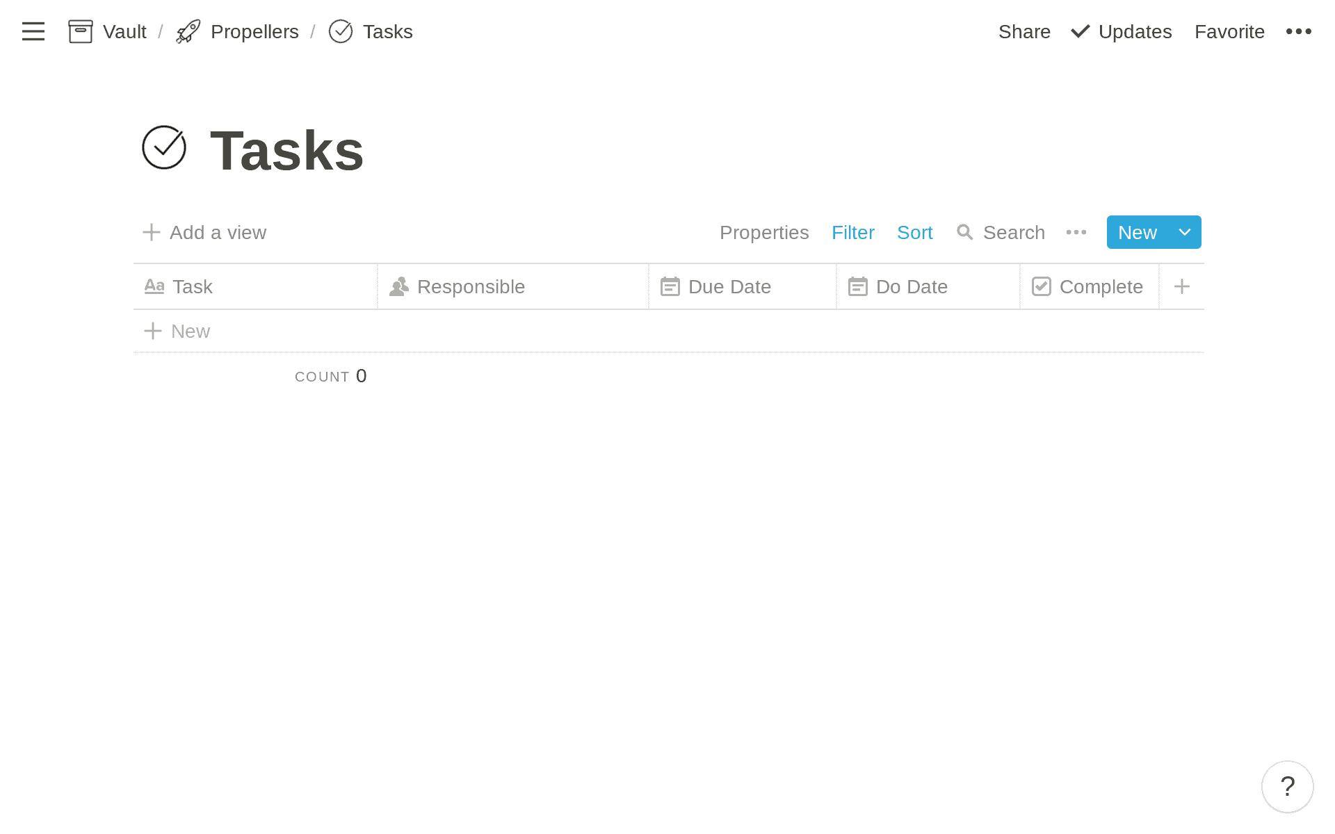 Tasks Database in Notion
