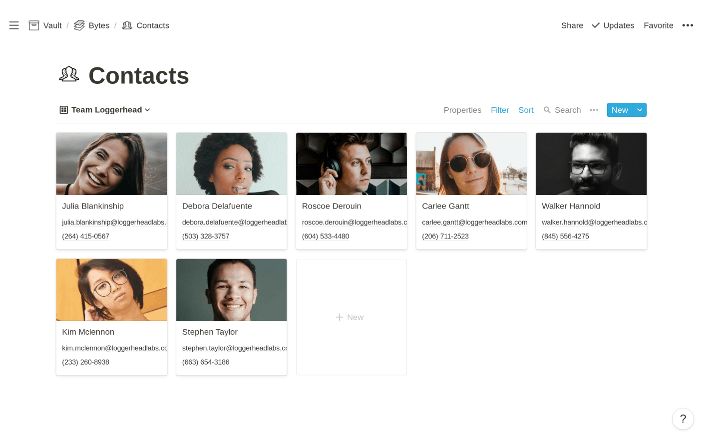 Contact Management with Notion