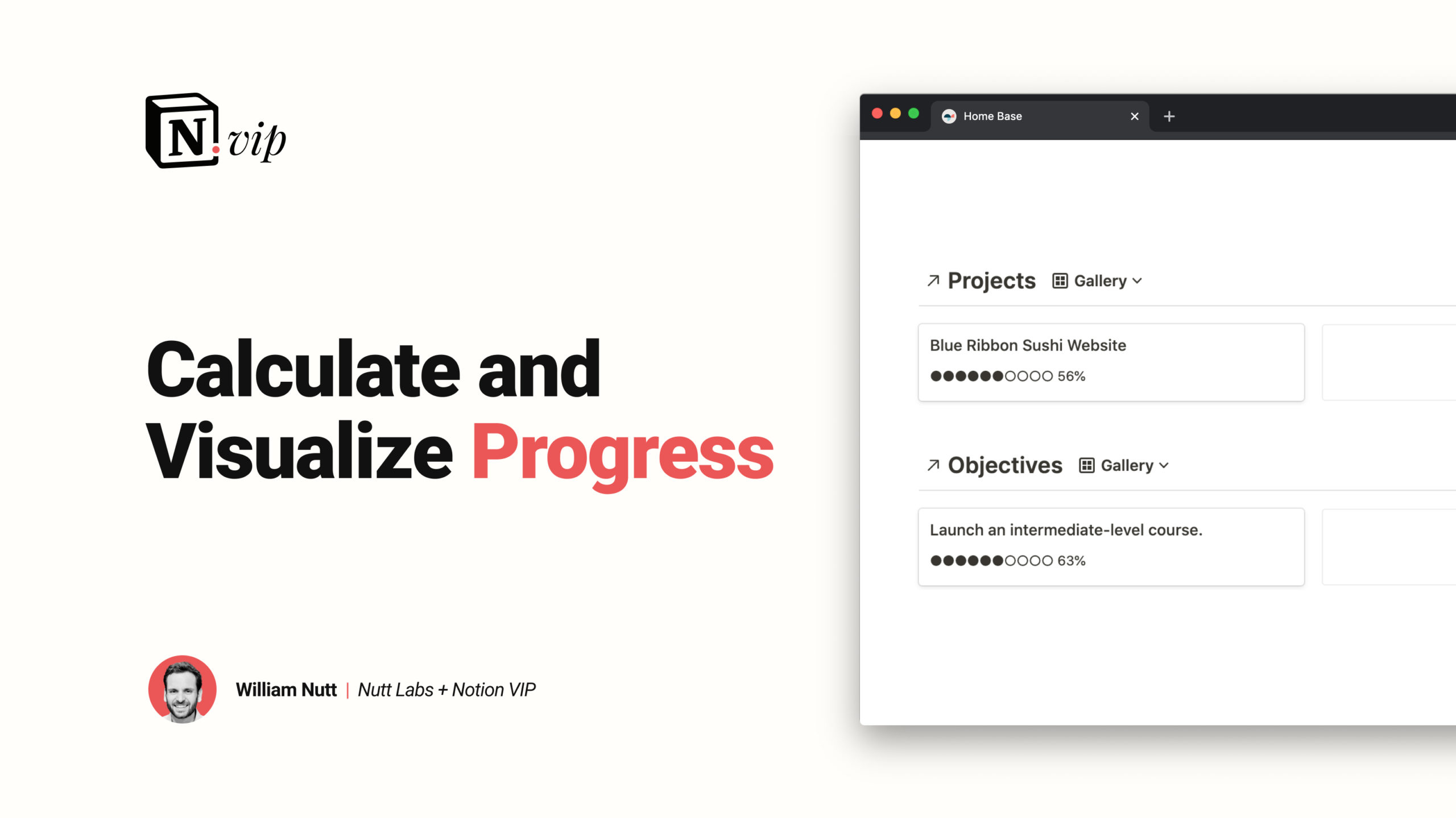 Calculate and Visualize Progress in Notion