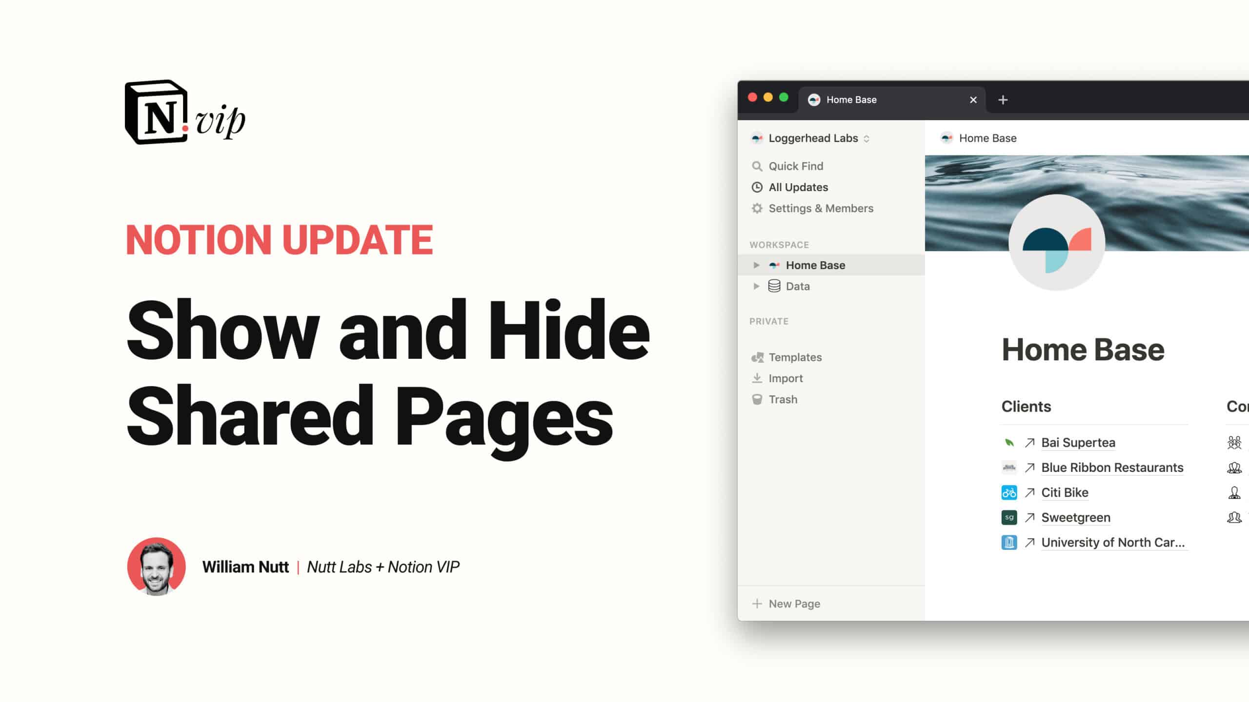 Show and Hide Shared Pages in Notion